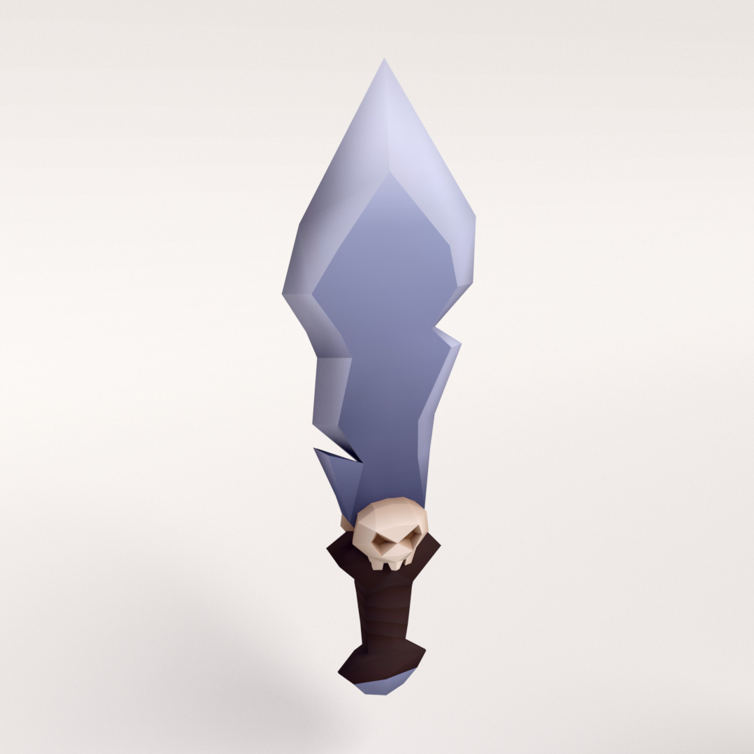 Low Poly Dagger Model